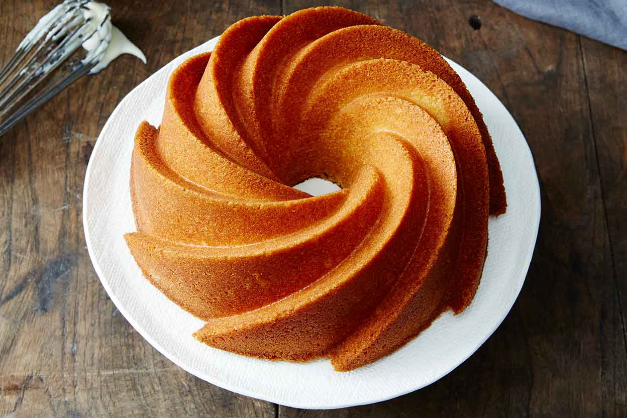 Orange Pound Cake with Bourbon Glaze Recipe | King Arthur Flour
