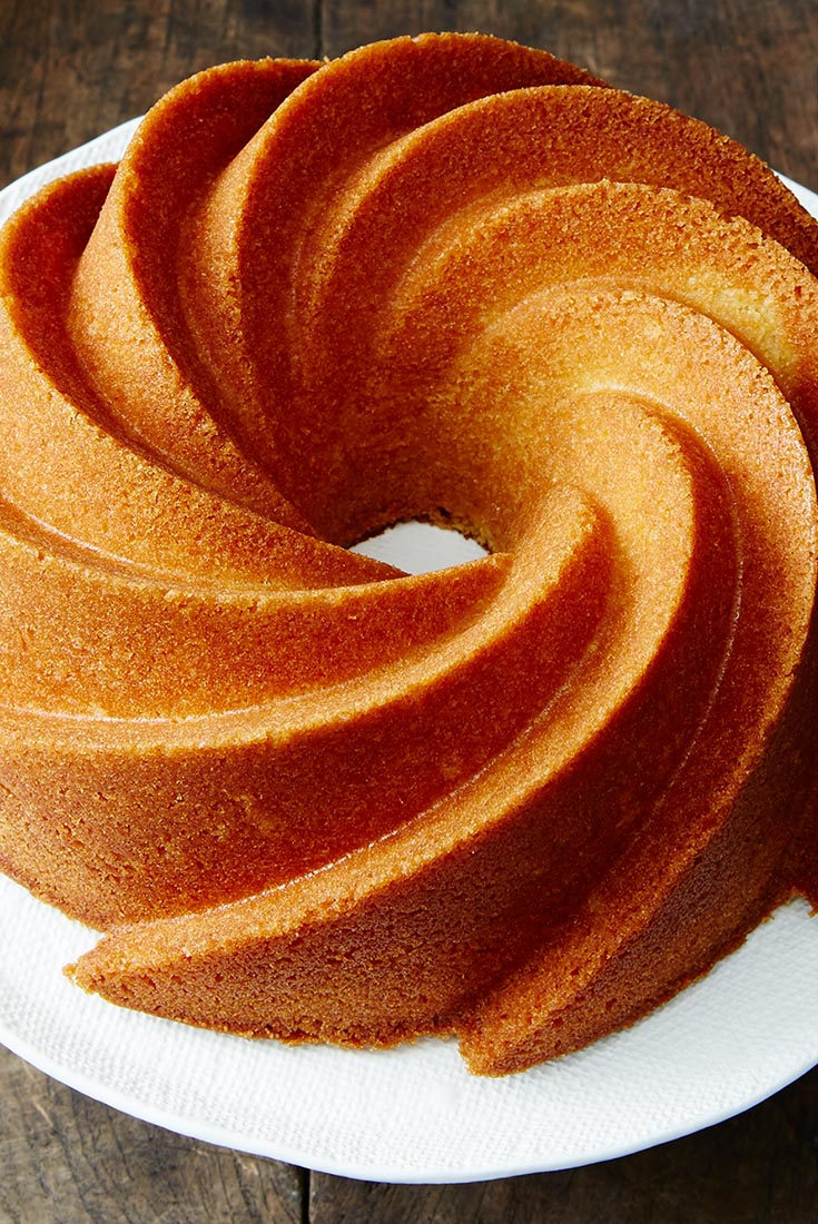 shines in this tender orange pound cake. The bourbon in the glaze ...
