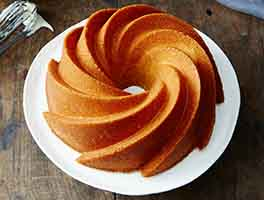 Orange Pound Cake with Bourbon Glaze