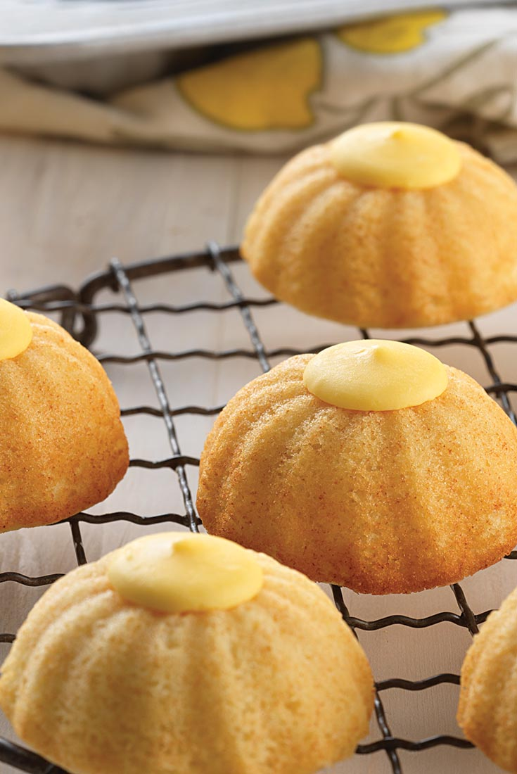 Mini Fluted Lemon Cakes Recipe