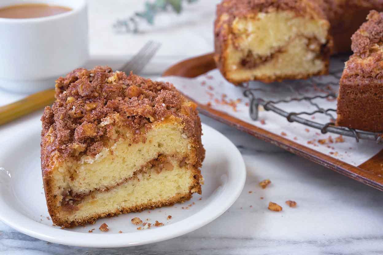 Our Favorite Sour Cream Coffeecake Recipe King Arthur Flour