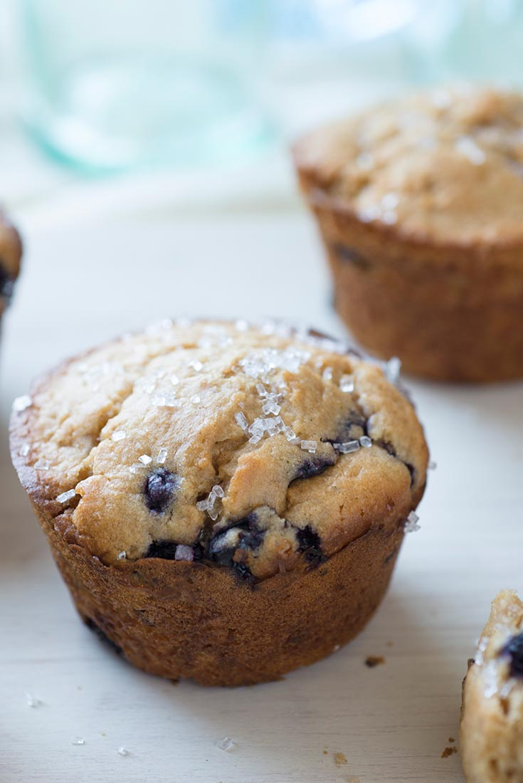 Sprouted Wheat Blueberry Muffins Recipe