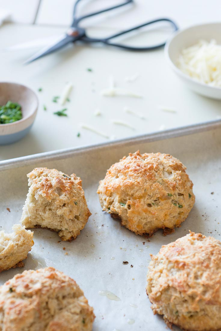 Sprouted Wheat Cheese and Herb Scones Recipe