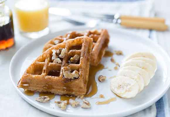 Sprouted Wheat Waffles Recipe
