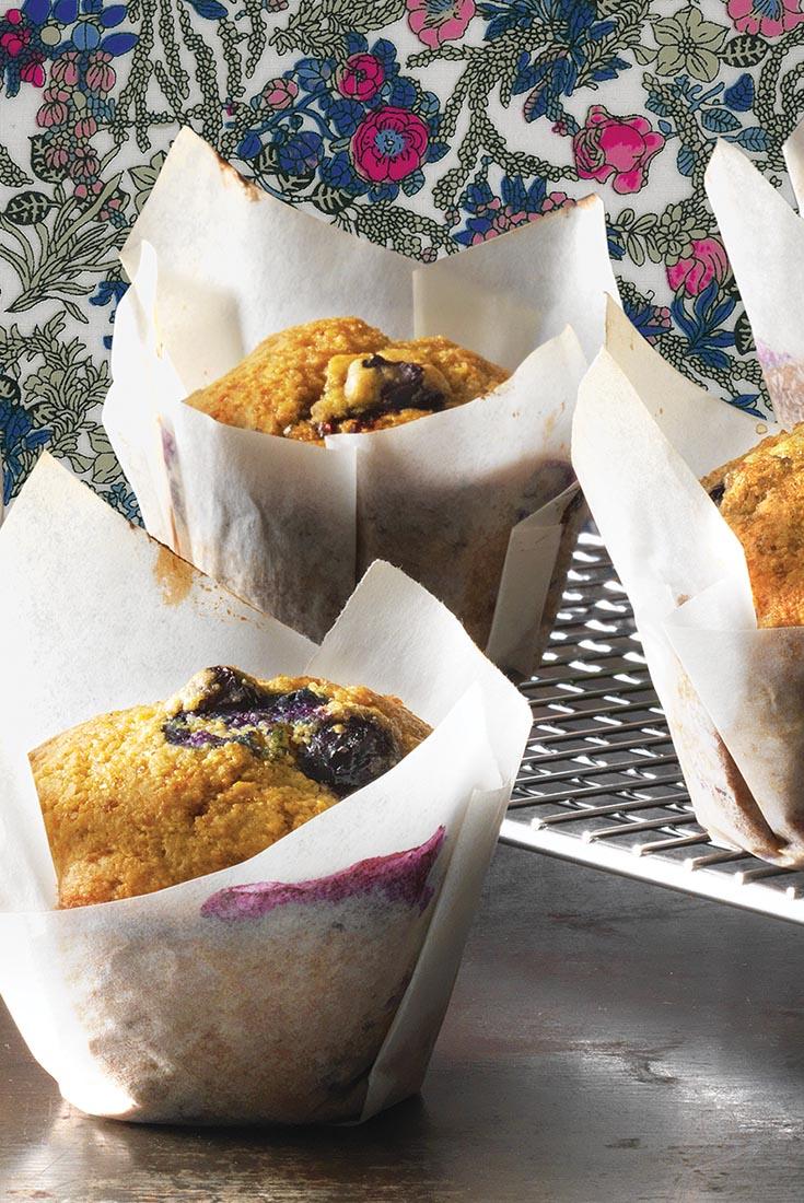 Blueberry Sourdough Muffins Recipe
