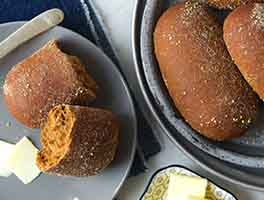 Dark & Soft Restaurant Dinner Rolls