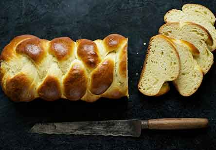 Four-Strand Braided Challah