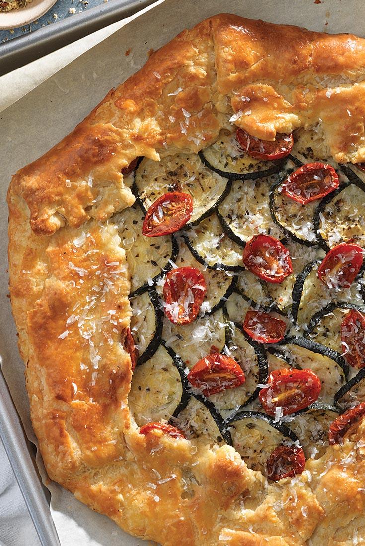 Savory Zucchini Galette Recipe