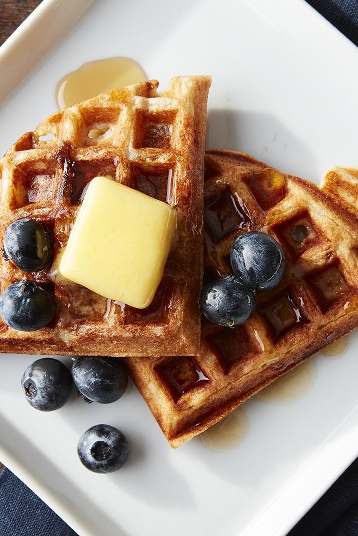 Old-Fashioned Maine Sourdough Waffles  Recipe