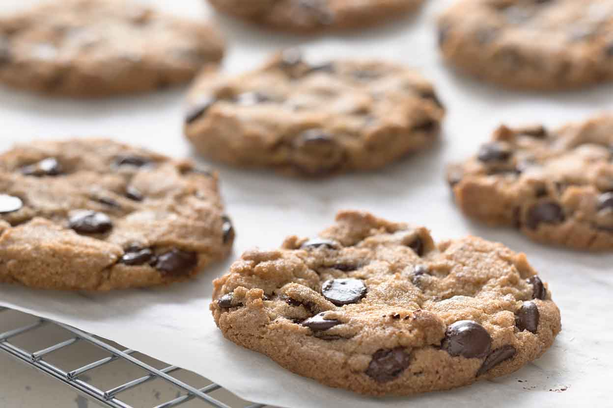 Crunchy Whole-Grain Chocolate Chip Cookies Recipe | King Arthur Flour