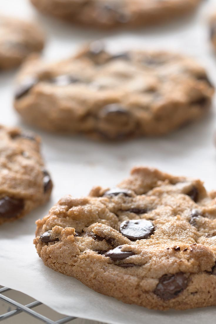Crunchy Whole Grain Chocolate Chip Cookies Recipe