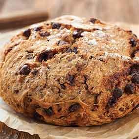 No-Knead Chocolate-Cherry Pecan Bread