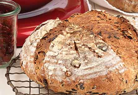 Wild Rice, Pecan and Dried Cranberry Bread