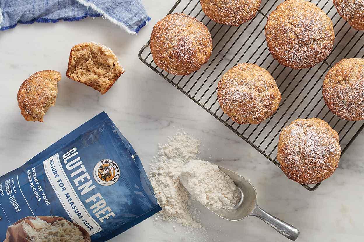 Gluten-Free Whole Grain Banana Muffins Recipe | King Arthur Flour