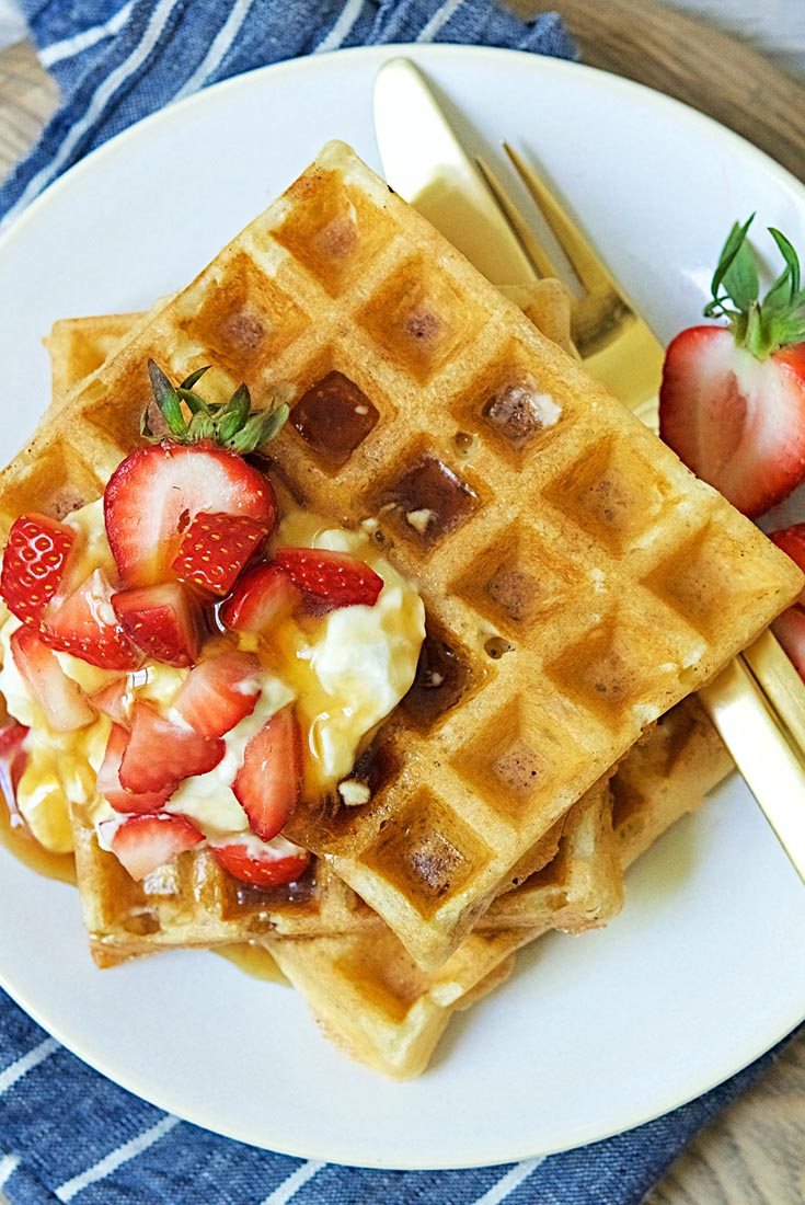 High-Fiber Sourdough Waffles Recipe