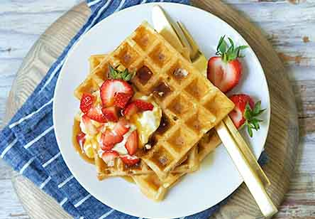 High-Fiber Sourdough Waffles