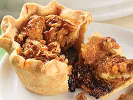 Caramel-Pecan Fudge Tarts