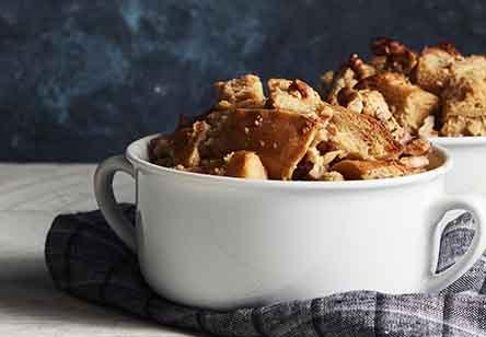 Maple Walnut Bread Pudding