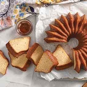 Maple Pound Cake with Maple-Rum Glaze