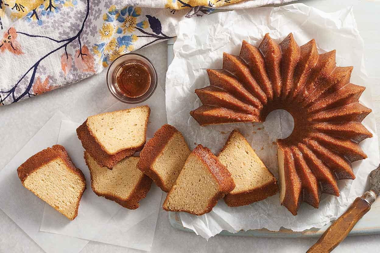 Maple Pound Cake With Maple Rum Glaze Recipe King Arthur