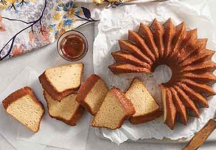 Maple Pound Cake with Maple Rum Glaze