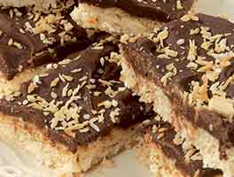 Crunchy Coconut Chocolate Bars