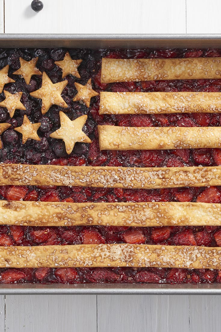 Fourth of July Flag Cobbler Recipe
