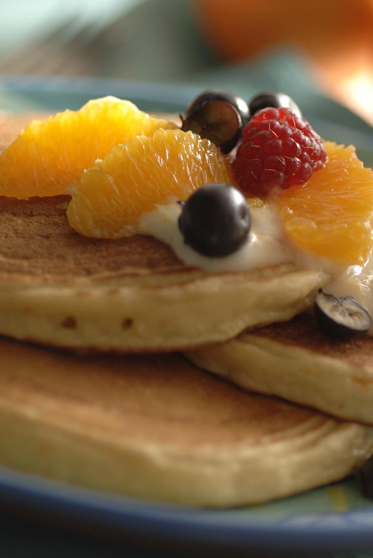 Orange Cloud Pancakes Recipe
