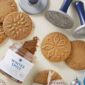 Winter Spice Stamp Cookies