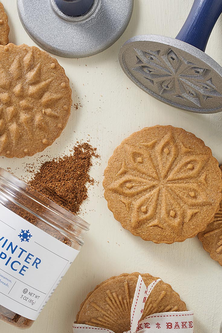 Winter Spice Stamp Cookies Recipe