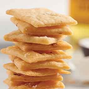 Garlic Chickpea Crackers