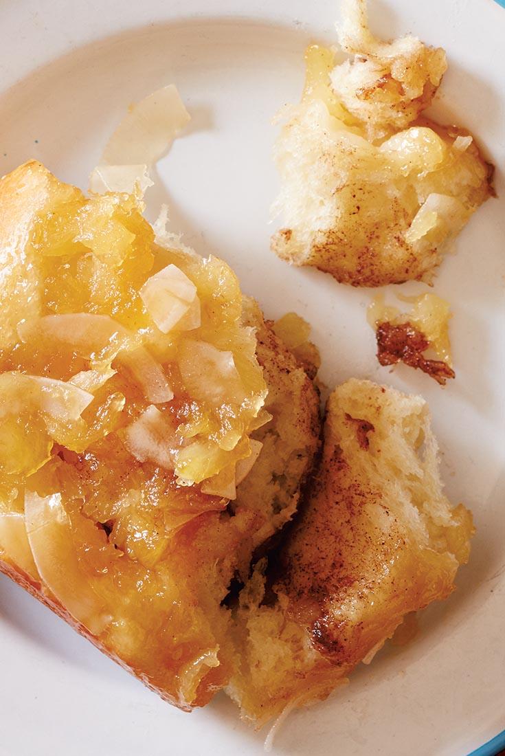 Pineapple Upside-Down Rolls Recipe