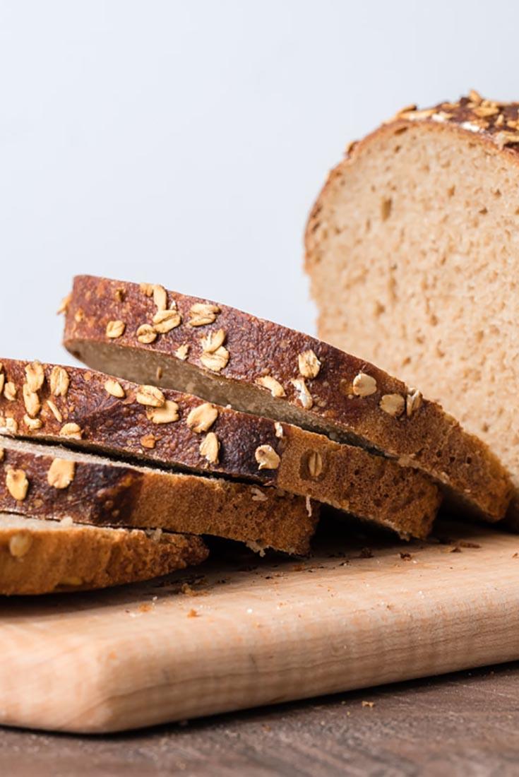 Multigrain Sourdough Sandwich Bread Recipe