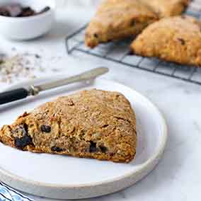 Dark Chocolate and Sunflower Spelt Scones