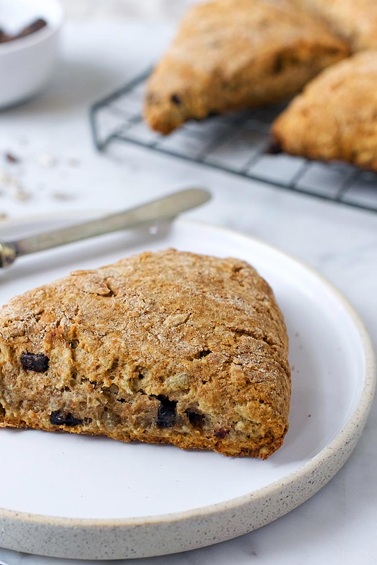 Dark Chocolate and Sunflower Spelt Scones Recipe