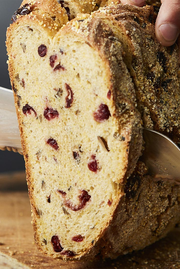 Wild Rice, Cranberry, and Cornmeal Sourdough Recipe