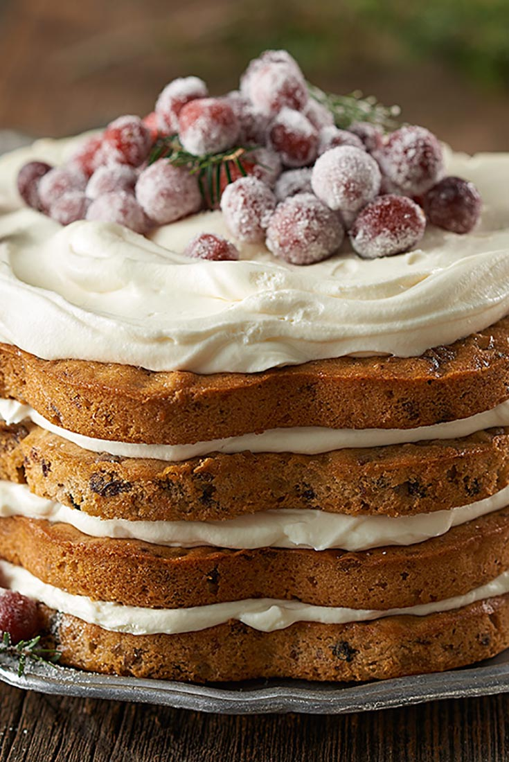 Lofty Layered Fruitcake Recipe