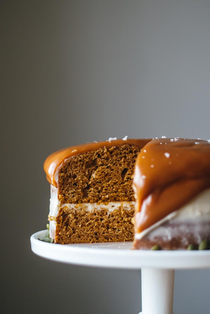 Pumpkin Layer Cake with Cream Cheese Frosting Recipe