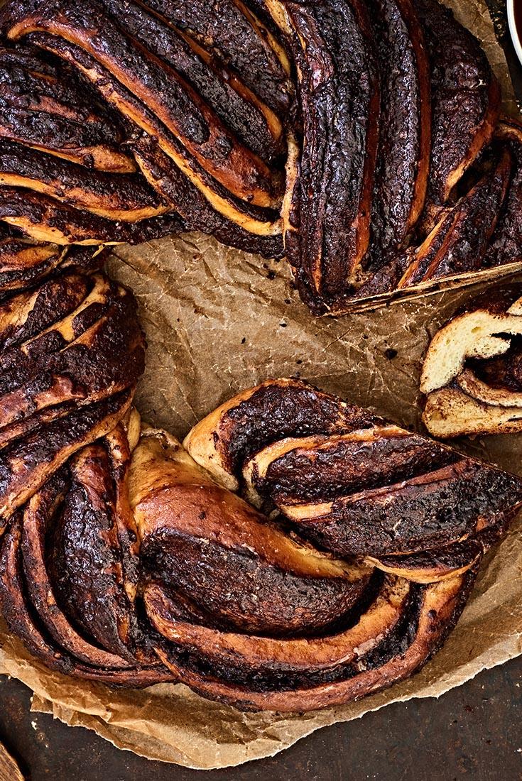 Chocolate Babka Wreath Recipe