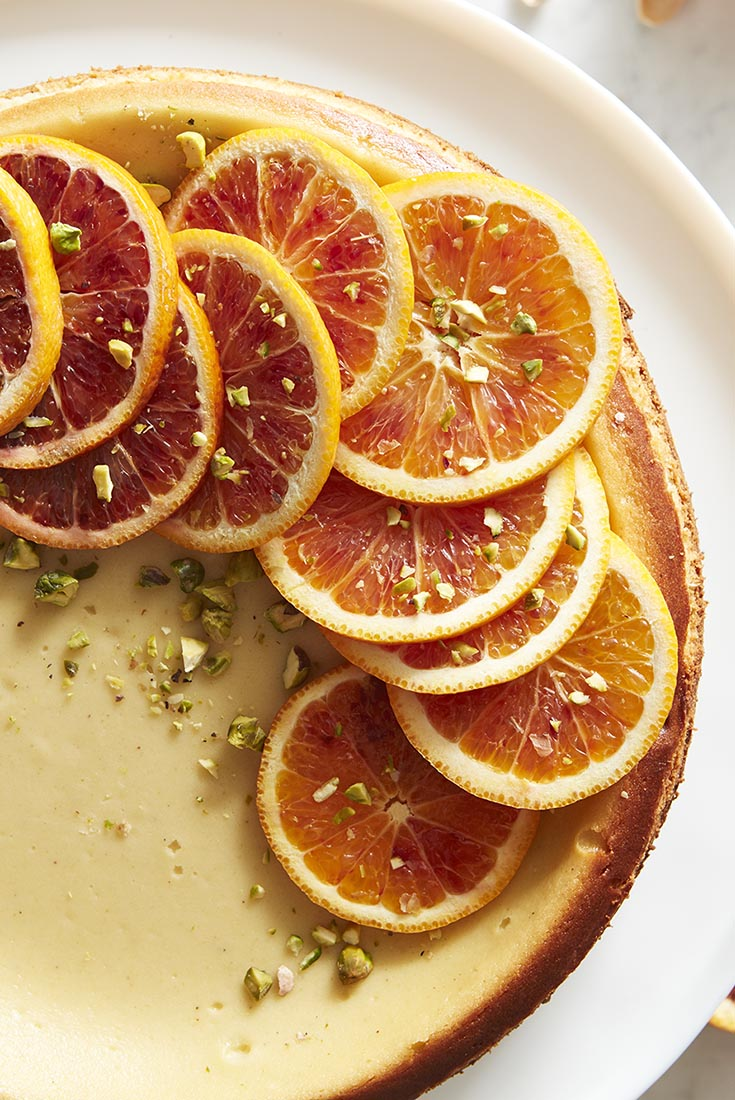 Pistachio Orange Cheesecake Recipe