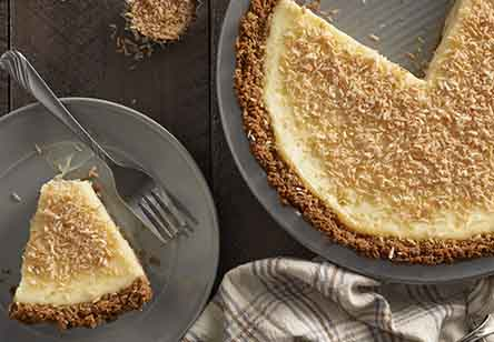 Easy Coconut Cheesecake