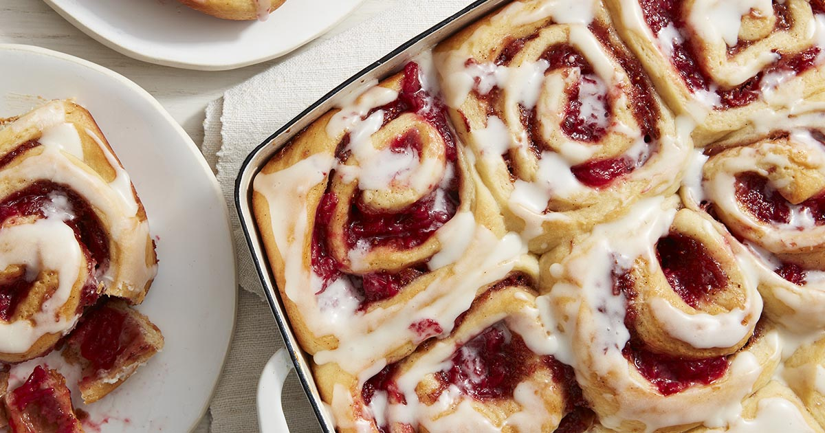 Roasted Strawberry Cream Cheese Rolls Recipe